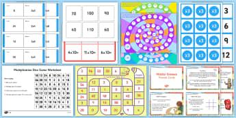 Times Tables Games - KS2, Maths, games, times, x, 2x, 3x, 4x, 5x, 6x, 7x, 8x, 9x, 10x, independent, group, golden time