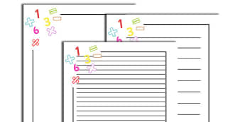 Numeracy Page Borders - Numeracy, numbers, page border, a4 border, template, writing aid, writing border, page template, foundation numeracy