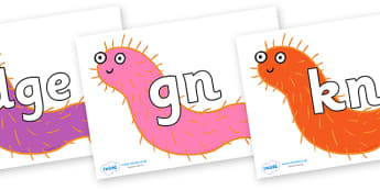 Silent Letters on Bristle Worm to Support Teaching on Sharing a Shell - Silent Letters, silent letter, letter blend, consonant, consonants, digraph, trigraph, A-Z letters, literacy, alphabet, letters, alternative sounds
