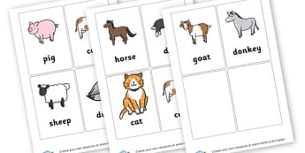 Farm Animals Cards - Farm Keywords Primary Resources, letters, phonics, sounds, dfes
