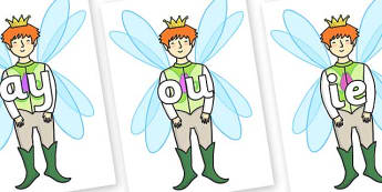 Phase 5 Phonemes on Fairy Prince - Phonemes, phoneme, Phase 5, Phase five, Foundation, Literacy, Letters and Sounds, DfES, display