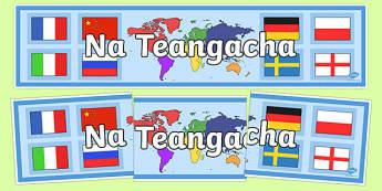 Languages Display Banner Irish Gaeilge - Irish, Gaeilge, languages, display, banner, school, social
