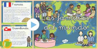 Presentación: Las familias por el mundo - familia, familias, culturas, el mundo, alrededor del mundo, presentación, powerpoint, power, point,