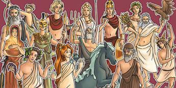 Greek Gods Large Display Cut Out Pack - greek gods, display