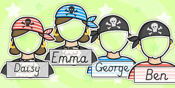 Editable Pirate Photo Self Reg Labels - pirate, self registration