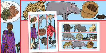 Sensational Safari Kenya Display Borders - africa, nature, science, topic, habitat, outside, animals, wild, early years, ks1, key stage 1