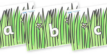 Phase 2 Phonemes on Wavy Grass - Phonemes, phoneme, Phase 2, Phase two, Foundation, Literacy, Letters and Sounds, DfES, display