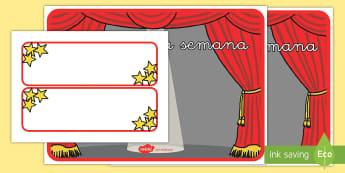 Póster DIN A4: Estrella de la semana - póster DIN A4, estrella, estrellas, estrella de la semana, la semana, motivación, exposición, exp