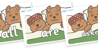 Tricky Words on Mummy & Daddy Bear - Tricky words, DfES Letters and Sounds, Letters and sounds, display, words