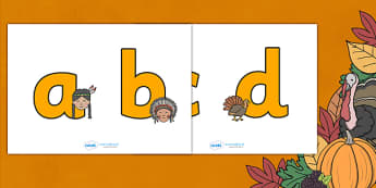 Thanksgiving Display Lettering - thanksgiving, display lettering, lettering, display letters, display alphabet, cut out lettering, symbols, turkey, harvest celebrations, autumn, united states, usa, canada, holiday, reformation