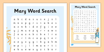 ROI Mary Word Search Activity Sheet - gaeilge, Mary, May, word search, activity sheet, Christianity, worksheet