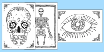 Ourselves Themed Mindfulness Colouring Sheets - Mindfulness Colouring Primary Resources, Mindfulness Colouring Sheets, Complicated Colouring, Adult Colouring, Book, Colour, KS2 Primary Teaching Resources, eyfs, ks1, body, me,