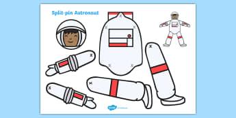 Split Pin Astronaut - split pin astronaut, astronaut, space, rocket, split pin, split, pin, moving, puppet, character