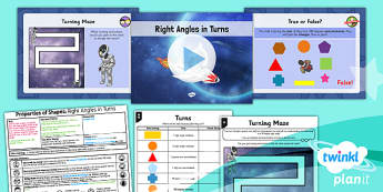 PlanIt Y3 Properties of Shape Lesson Pack Right Angles (2)  - Properties of Shapes, angles, angles in shapes, right angles