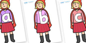 Phoneme Set on Red Riding Hood to Support Teaching on The Jolly Christmas Postman - Phoneme set, phonemes, phoneme, Letters and Sounds, DfES, display, Phase 1, Phase 2, Phase 3, Phase 5, Foundation, Literacy