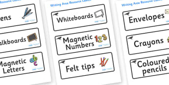 Blackbird Themed Editable Writing Area Resource Labels - Themed writing resource labels, literacy area labels, writing area resources, Label template, Resource Label, Name Labels, Editable Labels, Drawer Labels, KS1 Labels, Foundation Labels, Foundat