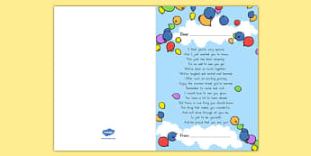 End of Year Poem Card - usa, america, end of year, poem, cards, transition