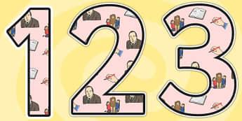 CS Lewis Themed Display Numbers - CS Lewis, display numbers, themed number, classroom number, numbers for display, numbers, numbers for display, display