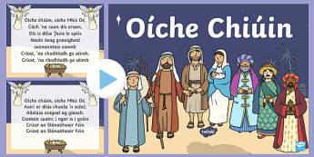 Oíche Chiúin Song PowerPoint-Irish