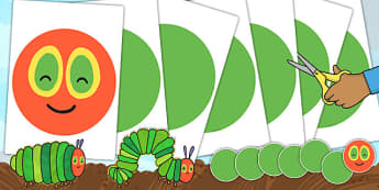 Large A2 Circular Body Cut Outs to Support Teaching on The Very Hungry Caterpillar - cut