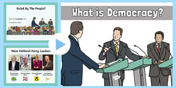 Democracy in the UK - what, democracy, presentation, powerpoint, ks2