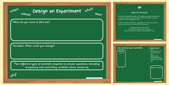 Scientific Enquiry Planning Template - science, ks2