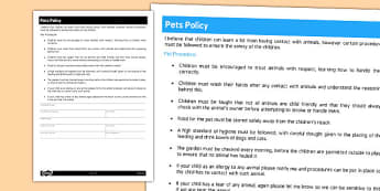 policies childminder primary resources - policies - page 1, Invoice examples