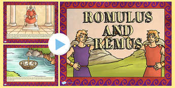 Romulus and Remus - roman, romans, rome, ppt