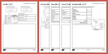 Student Led Practice Sheet Budget at Home Bills Bills Bills GCSE Grades 4-5 - KS3, KS4, GCSE, Maths, Finance, Budget, Home, independent learning, growth mindset, practise, assessment
