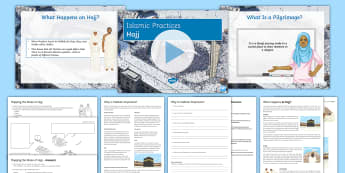 Hajj Lesson Pack - Hajj; Islamic Practices; Five Pillars; Makkah