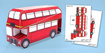London Bus Paper Model - london, bus, paper model, craft, model