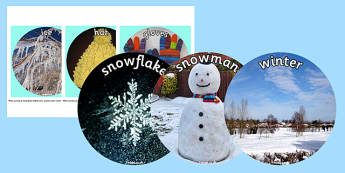 Winter Display Circle Photo Cut Outs - winter, display, circle, photo, cut outs