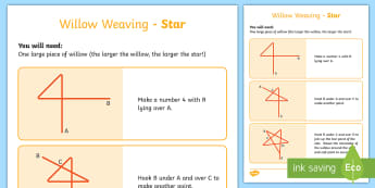Willow Weaving Star Activity - CfE Outdoor Learning, nature, forest, woodland, playground, willow, weaving, star,Scottish