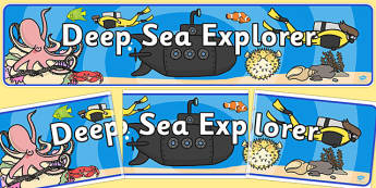 Deep Sea Explorer Role Play Banner-sea, ocean, explorer, role play, banner, role play banner, display banner, deep sea explorer role play