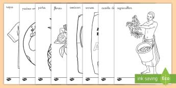 Hojas de colorear: Comercio Justo - Fairtrade, comercio justo, colorear, colorea, colores, hojas, pintar, ,Spanish