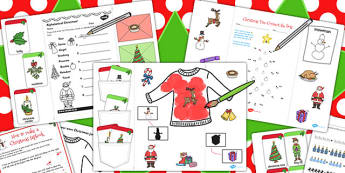 Early Year Christmas Lapbook Creation Pack - lapbooks, christmas