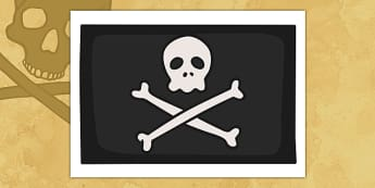 Pirates Jolly Roger Display Flag - Pirate, Pirates, Flag, pirate flag, Topic, Display, Posters, Freize, play, pirate, pirates, treasure, ship, jolly roger, ship, island, ocean