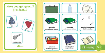 Morning Checklist Pack   Poster and Cards Romanian  - morning, routine, organisation, help, advice, support, behaviour, Romanian-translation