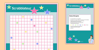 Scrabblateur Board Game - scrabblateur, board game, board, game, activity