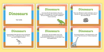 Amazing Dinosaur Display Fact Cards - dinosaur, facts