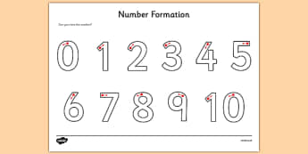 Number Formation Activity Sheet - Number formation, tracing numbers, tracing sheet, 0-9 tracing, 0-9, number writing practice, foundation stage numeracy, writing, learning to write, worksheet
