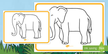 Elephant Large Display Poster - Elephant, animals, jungle, Elmer, David McKee, colour, pattern, Diwali.