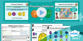 PlanIt Y2  Position and Direction SolveIt Lesson Pack - Geometry, Pattern, arrange, continue, sequence, 2D shape, repeat, rule, hexagon, pentagon, rectangle