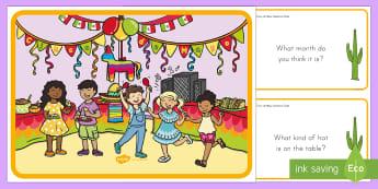 Cinco de Mayo Scene and Question Cards - Cinco de Mayo, Observation, Visual Aide, Cinco de Mayo Celebration, Mexico, Holiday