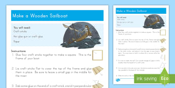 Make A Wooden Sailboat Craft Instructions - boat. craft. craft stick, sailboat, wind, storm, Jesus, New Testament, disciples