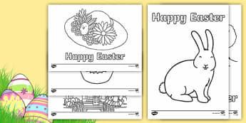 Coloriages : Easter (La fête de Pâques) - Anglais LV