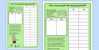 Football Graph Worksheet - world cup, sports, numeracy, maths