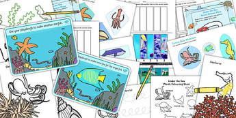 Under the Sea Fine Motor Skills Pack - under the sea, motor