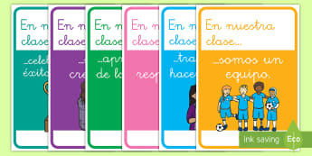 Pósters DIN A4: En nuestra clase... - póster DIN A4, DIN A4, clase, nosotros, nuestra clase, motivación, motivarse, exposición, exponer