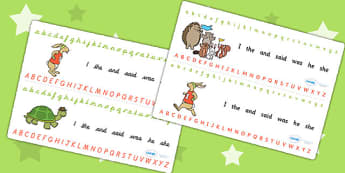 The Tortoise and The Hare Alphabet Strips - alphabet, visual aid